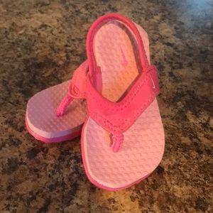 Toddler Nike sandals.